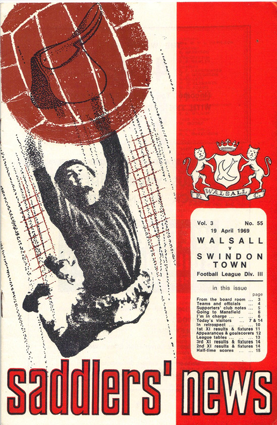 <b>Saturday, April 19, 1969</b><br />vs. Walsall (Away)