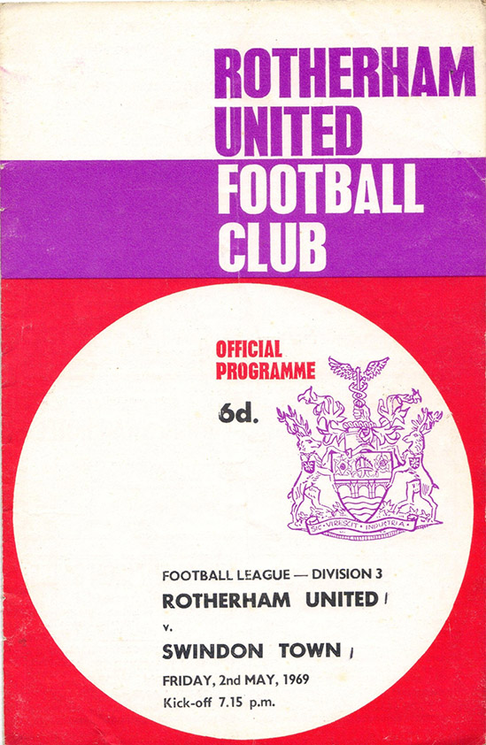 <b>Friday, May 2, 1969</b><br />vs. Rotherham United (Away)