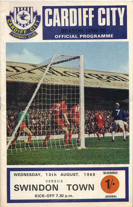 <b>Wednesday, August 13, 1969</b><br />vs. Cardiff City (Away)