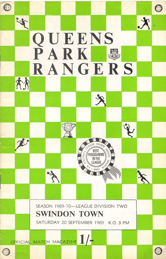 <b>Saturday, September 20, 1969</b><br />vs. Queens Park Rangers (Away)