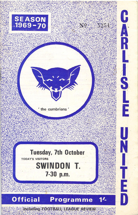 <b>Tuesday, October 7, 1969</b><br />vs. Carlisle United (Away)