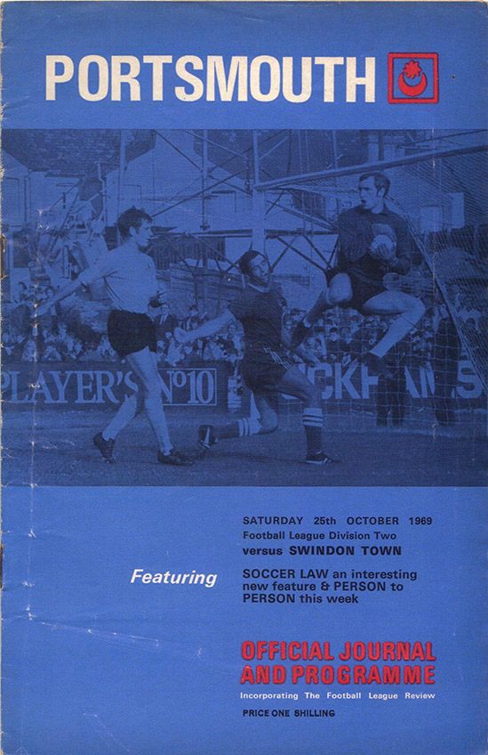 <b>Saturday, October 25, 1969</b><br />vs. Portsmouth (Away)