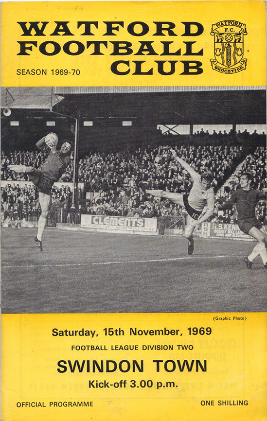 <b>Saturday, November 15, 1969</b><br />vs. Watford (Away)