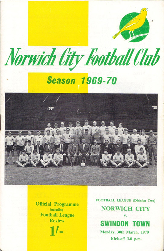 <b>Monday, March 30, 1970</b><br />vs. Norwich City (Away)