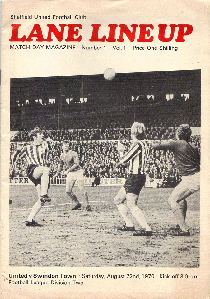 <b>Saturday, August 22, 1970</b><br />vs. Sheffield United (Away)