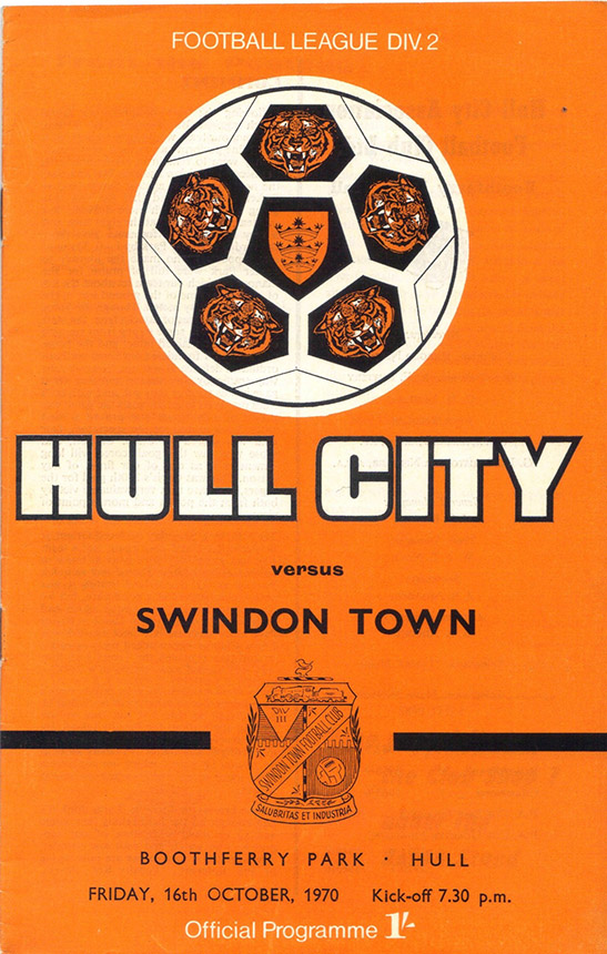 <b>Friday, October 16, 1970</b><br />vs. Hull City (Away)