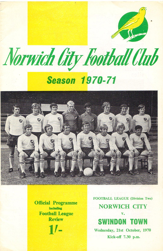 <b>Wednesday, October 21, 1970</b><br />vs. Norwich City (Away)