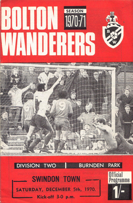 <b>Saturday, December 5, 1970</b><br />vs. Bolton Wanderers (Away)