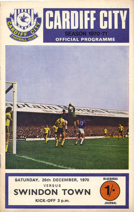 <b>Saturday, December 26, 1970</b><br />vs. Cardiff City (Away)