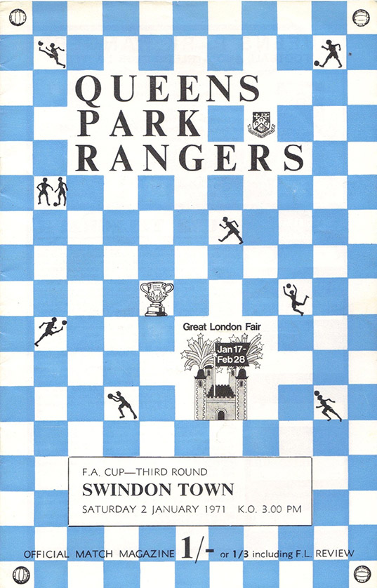 <b>Saturday, January 2, 1971</b><br />vs. Queens Park Rangers (Away)