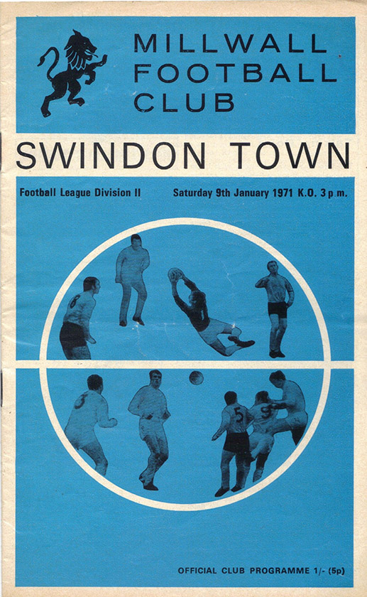 <b>Saturday, January 9, 1971</b><br />vs. Millwall (Away)