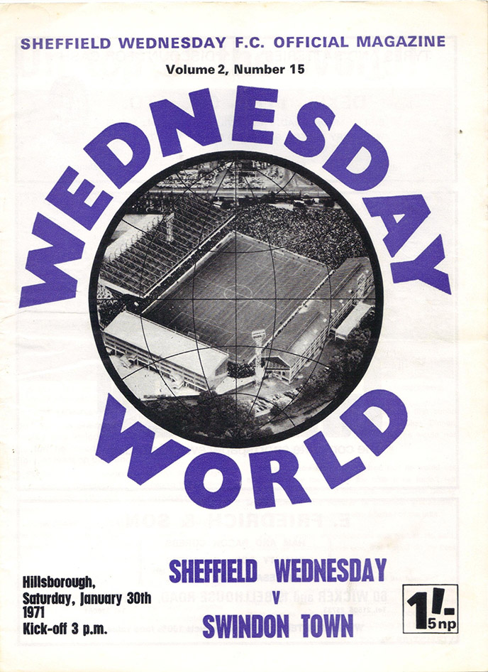 <b>Saturday, January 30, 1971</b><br />vs. Sheffield Wednesday (Away)