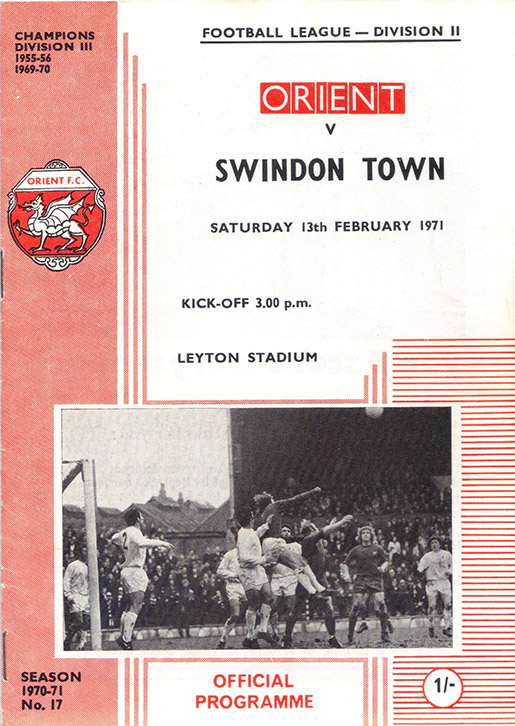 <b>Saturday, February 13, 1971</b><br />vs. Orient (Away)