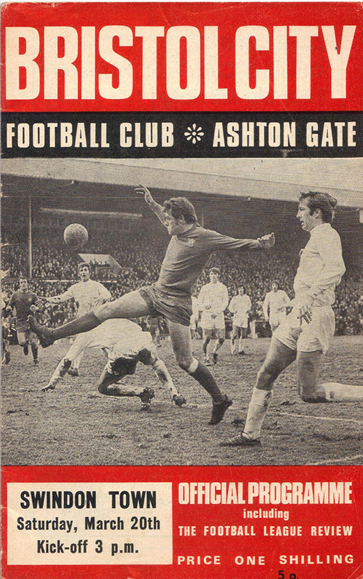 <b>Saturday, March 20, 1971</b><br />vs. Bristol City (Away)