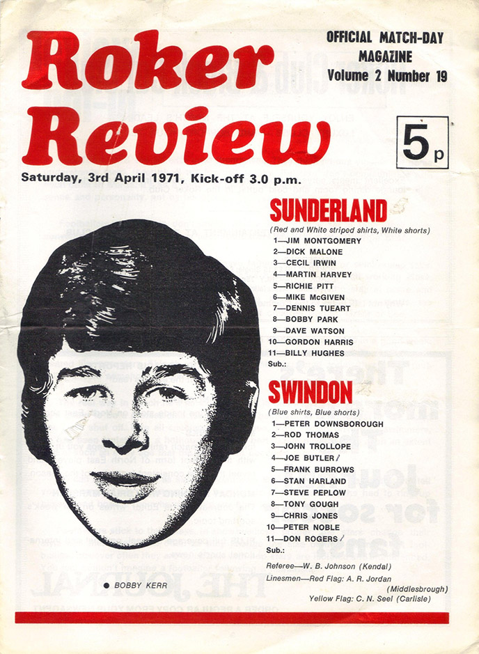 <b>Saturday, April 3, 1971</b><br />vs. Sunderland (Away)