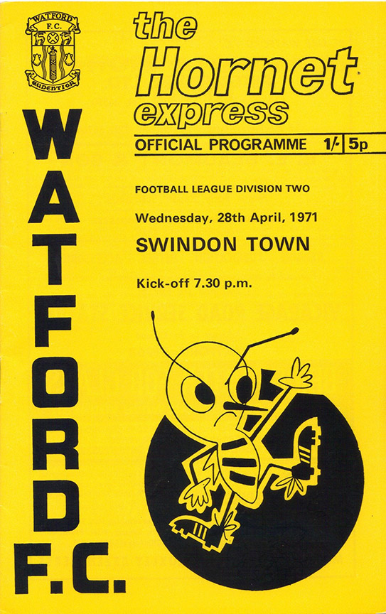 <b>Wednesday, April 28, 1971</b><br />vs. Watford (Away)