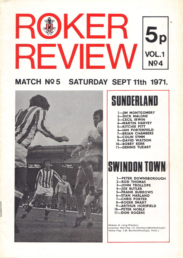 <b>Saturday, September 11, 1971</b><br />vs. Sunderland (Away)