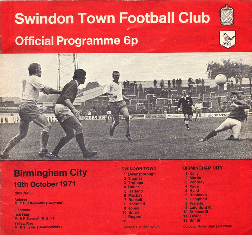 <b>Tuesday, October 19, 1971</b><br />vs. Birmingham City (Home)