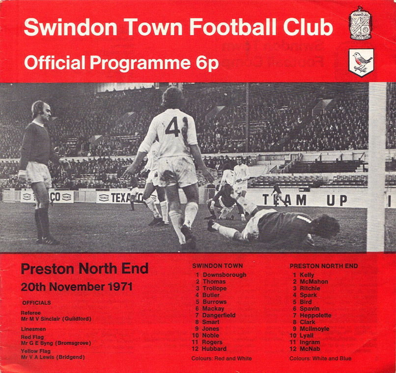 <b>Saturday, November 20, 1971</b><br />vs. Preston North End (Home)