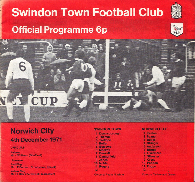 <b>Saturday, December 4, 1971</b><br />vs. Norwich City (Home)
