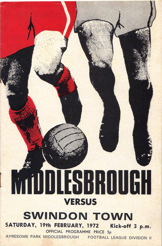 <b>Saturday, February 19, 1972</b><br />vs. Middlesbrough (Away)