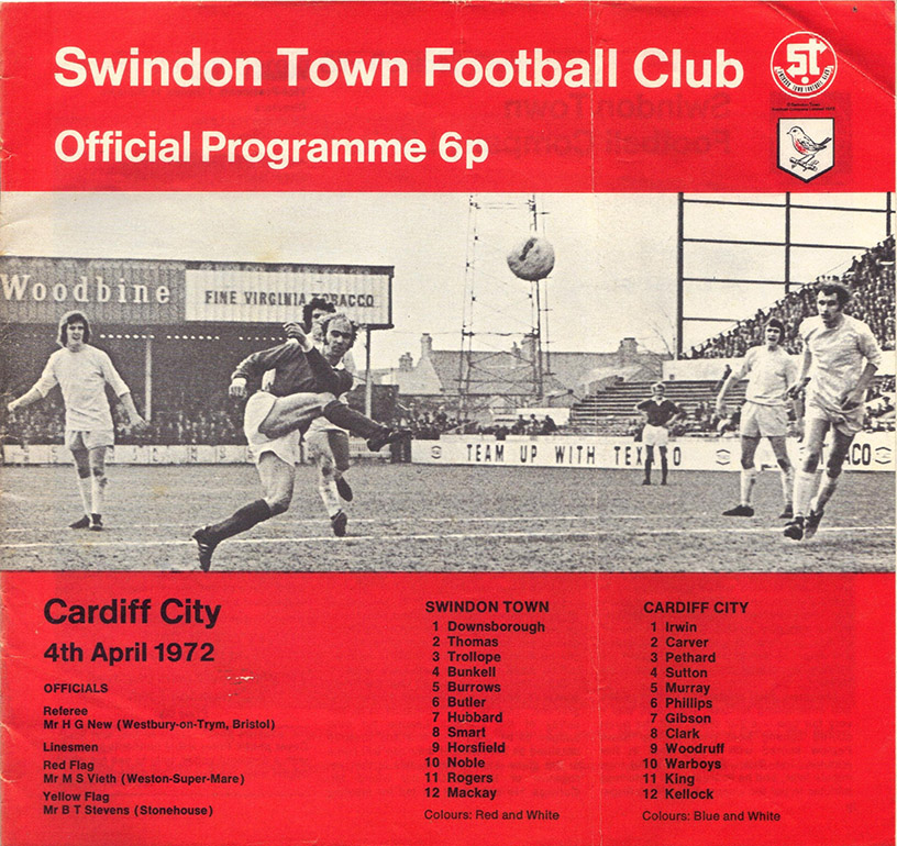 <b>Tuesday, April 4, 1972</b><br />vs. Cardiff City (Home)