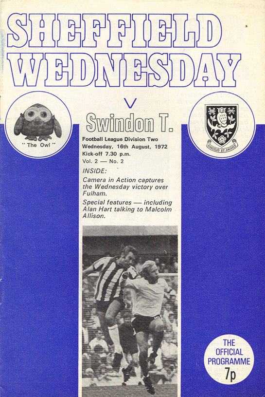 <b>Wednesday, August 16, 1972</b><br />vs. Sheffield Wednesday (Away)