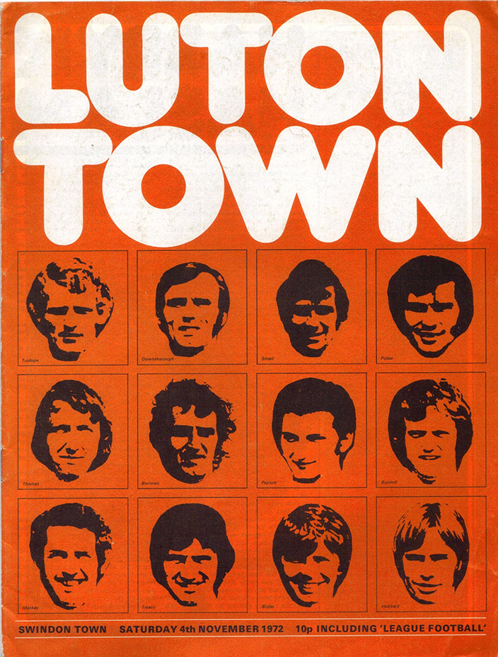 <b>Saturday, November 4, 1972</b><br />vs. Luton Town (Away)