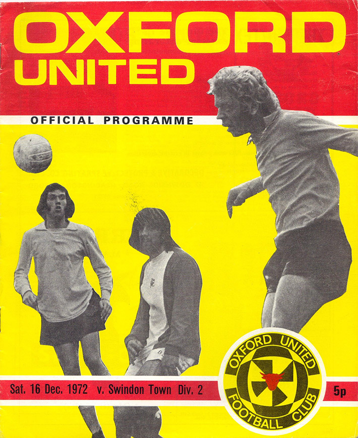 <b>Saturday, December 16, 1972</b><br />vs. Oxford United (Away)