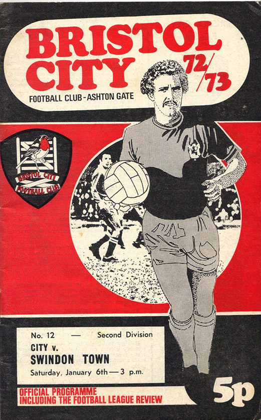 <b>Saturday, January 6, 1973</b><br />vs. Bristol City (Away)