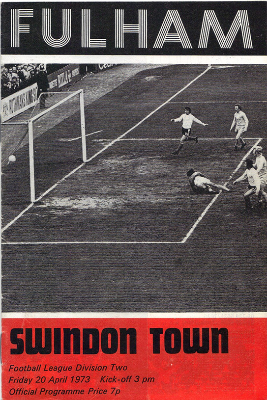 <b>Friday, April 20, 1973</b><br />vs. Fulham (Away)