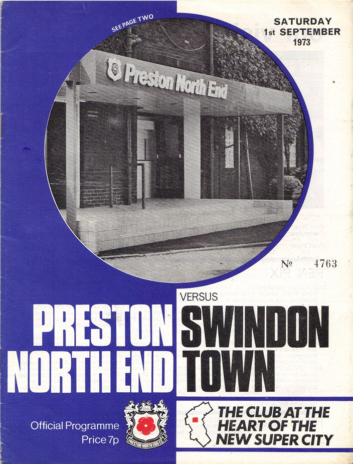 <b>Saturday, September 1, 1973</b><br />vs. Preston North End (Away)