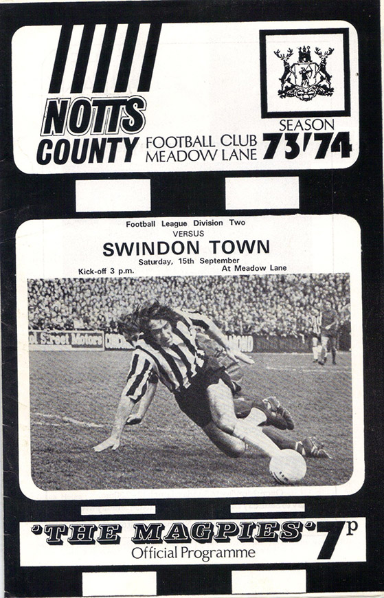 <b>Saturday, September 15, 1973</b><br />vs. Notts County (Away)