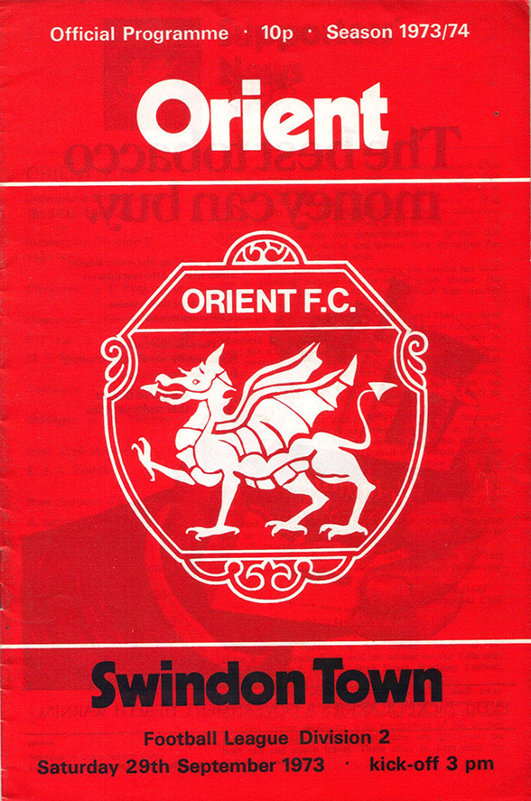 <b>Saturday, September 29, 1973</b><br />vs. Orient (Away)