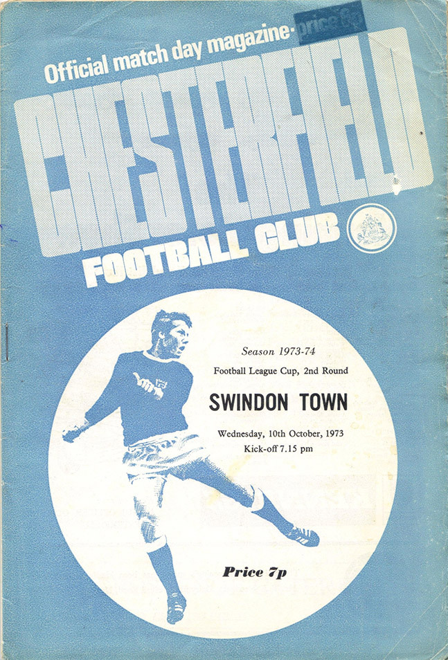 <b>Wednesday, October 10, 1973</b><br />vs. Chesterfield (Away)