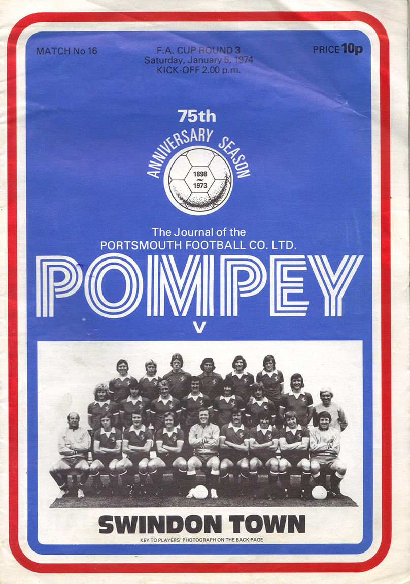 <b>Saturday, January 5, 1974</b><br />vs. Portsmouth (Away)