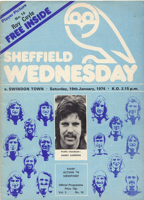 <b>Saturday, January 19, 1974</b><br />vs. Sheffield Wednesday (Away)