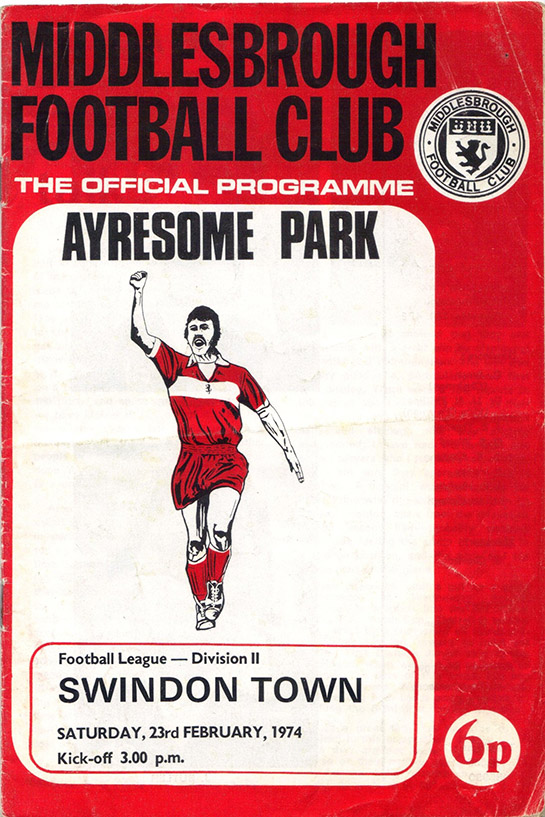 <b>Saturday, February 23, 1974</b><br />vs. Middlesbrough (Away)