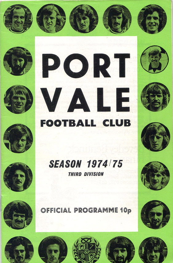 Saturday, August 24, 1974 - vs. Port Vale (Away)