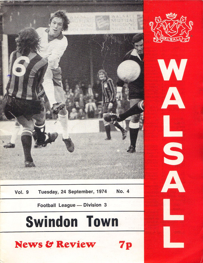 <b>Tuesday, September 24, 1974</b><br />vs. Walsall (Away)