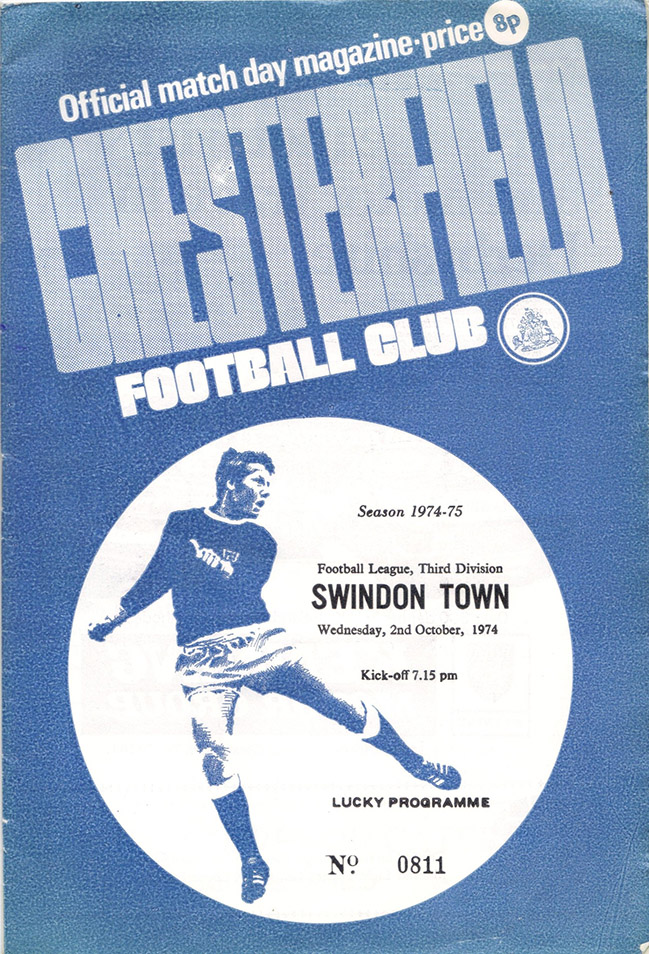 <b>Wednesday, October 2, 1974</b><br />vs. Chesterfield (Away)