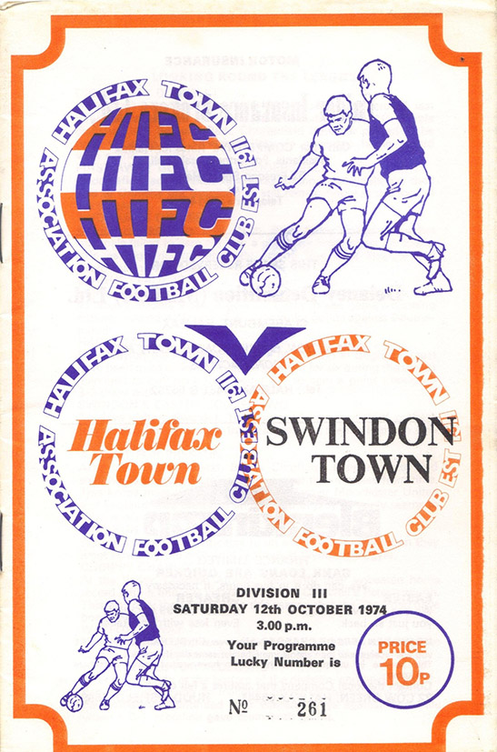 <b>Saturday, October 12, 1974</b><br />vs. Halifax Town (Away)