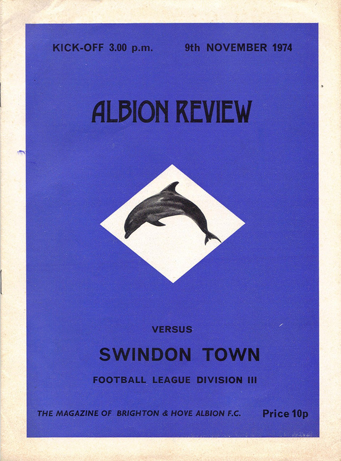 Saturday, November 9, 1974 - vs. Brighton and Hove Albion (Away)