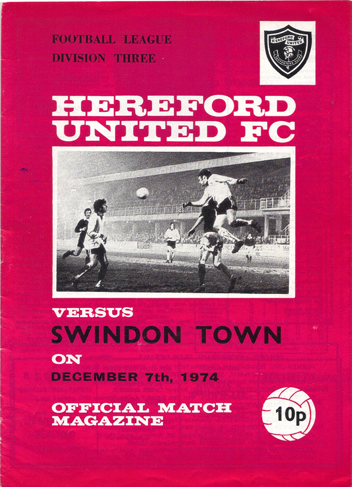 Saturday, December 7, 1974 - vs. Hereford United (Away)