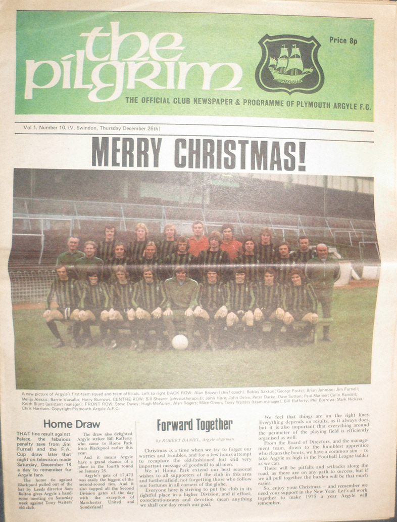 <b>Thursday, December 26, 1974</b><br />vs. Plymouth Argyle (Away)