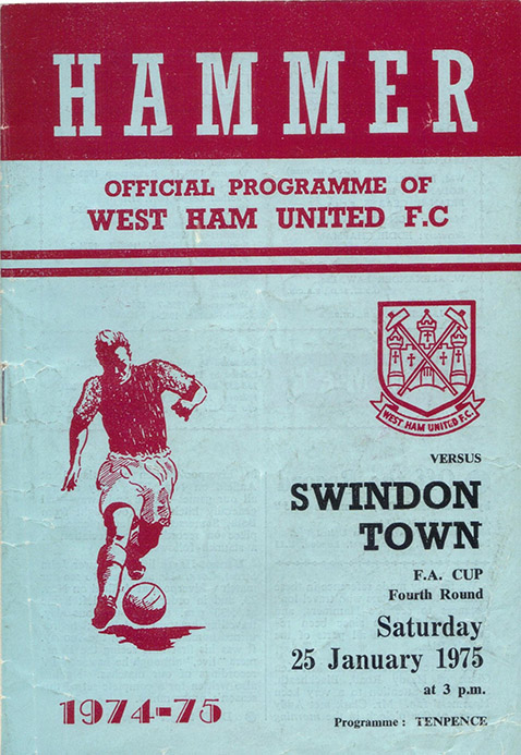 Saturday, January 25, 1975 - vs. West Ham United (Away)