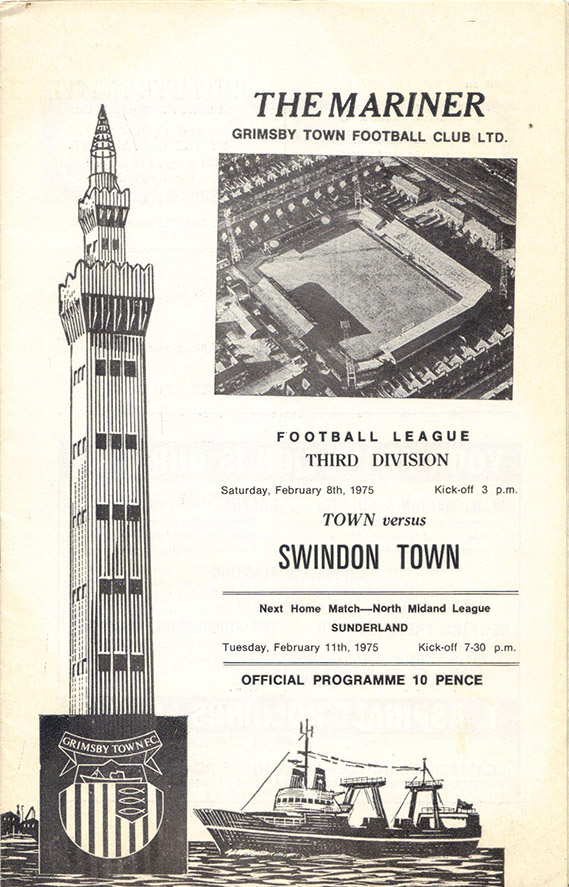 <b>Saturday, February 8, 1975</b><br />vs. Grimsby Town (Away)