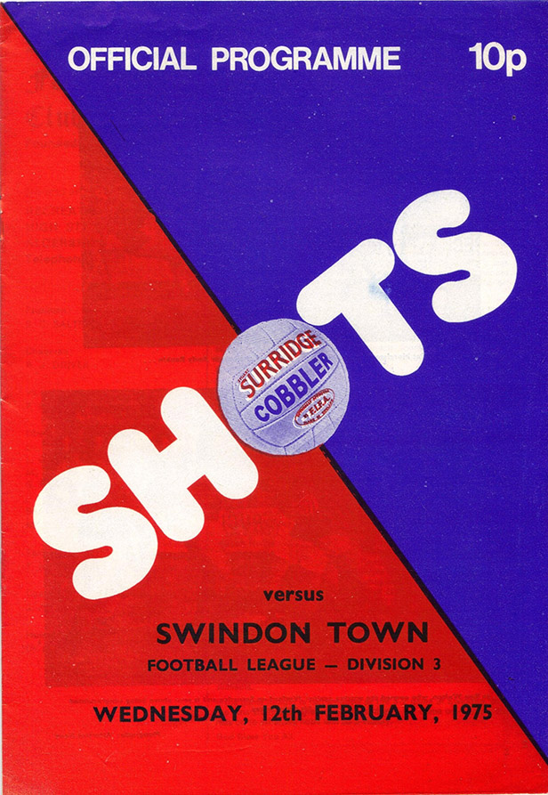 Wednesday, February 12, 1975 - vs. Aldershot (Away)