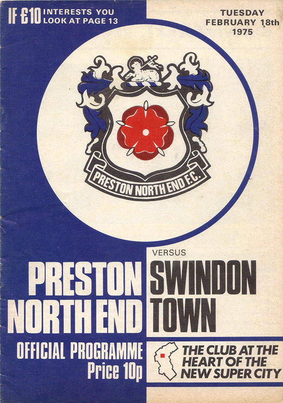 Tuesday, February 18, 1975 - vs. Preston North End (Away)
