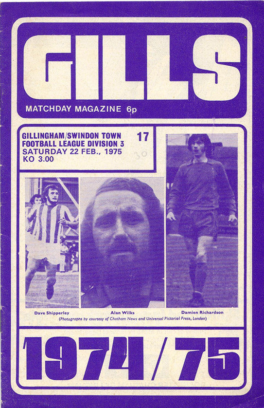 <b>Saturday, February 22, 1975</b><br />vs. Gillingham (Away)